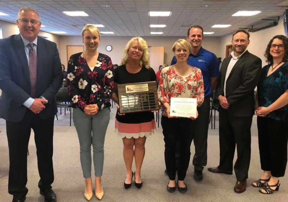 Envision Greater FDL Honored with FDL School District's 2018-2019 Friend of Education Award