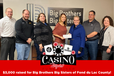 YPF Donates $3,000 to Big Brothers Big Sisters After Successful Casino Night Event