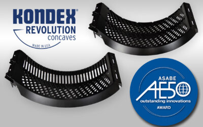 Kondex Revolution (TM) Concaves Receive AE50 Engineering Award