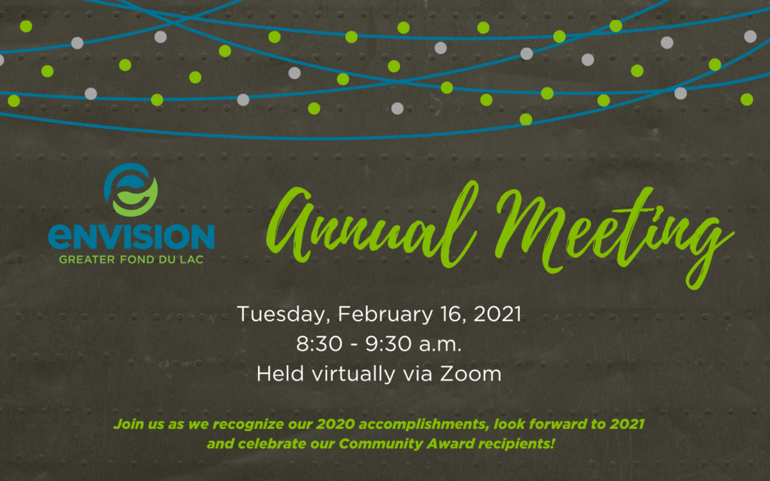Envision Greater Fond du Lac to host Annual Meeting, present annual awards