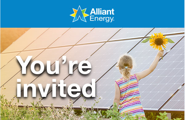 Alliant Energy® Community Solar – Fond du Lac Open House